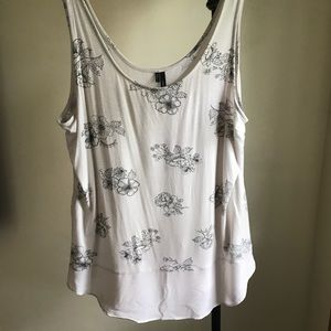 Maurices tank with chiffon bottom